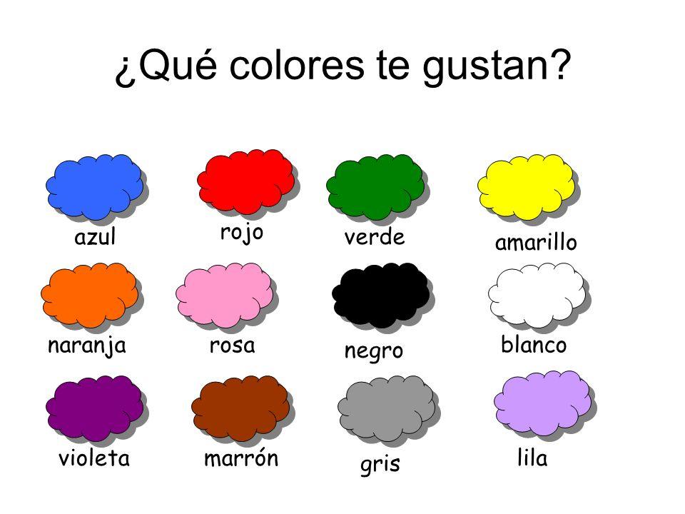 ¿Qué colores te gustan rojo azul verde amarillo naranja rosa blanco