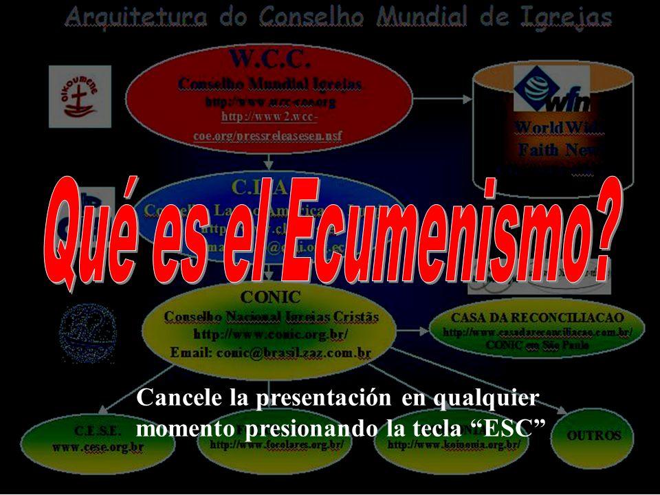 Qué es el Ecumenismo Cancele la presentación en qualquier