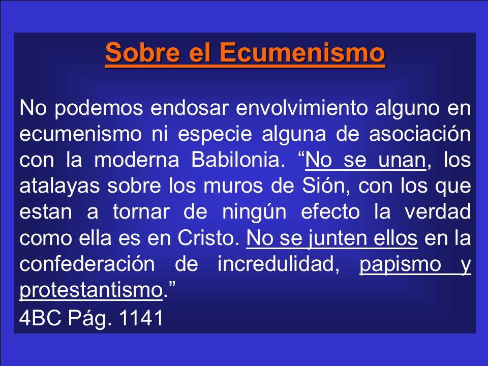 Sobre el Ecumenismo
