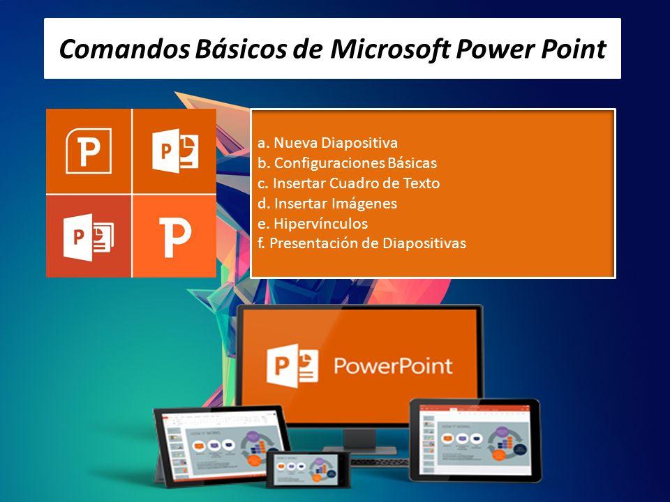 Comandos Básicos de Microsoft Power Point