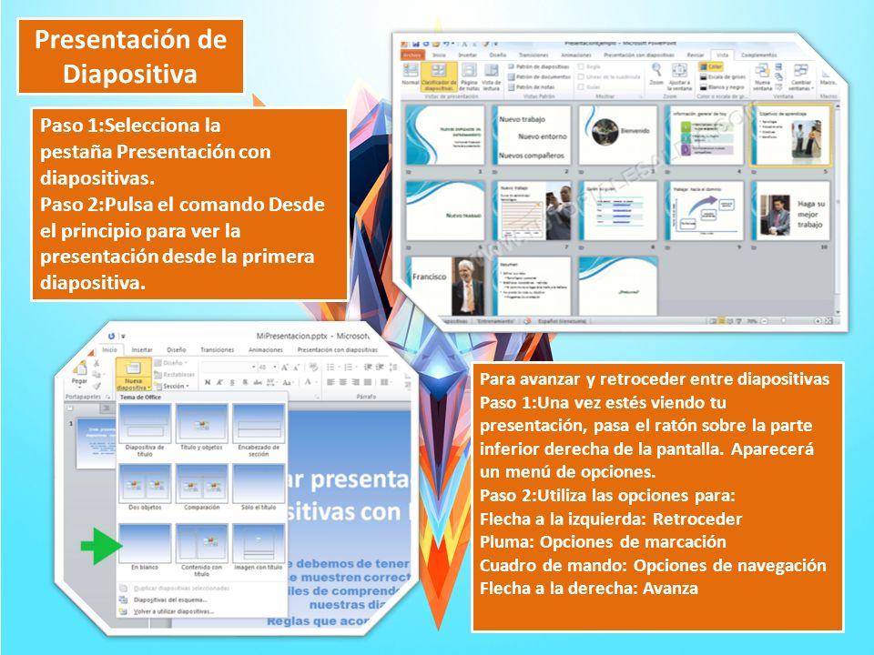 Presentación de Diapositiva