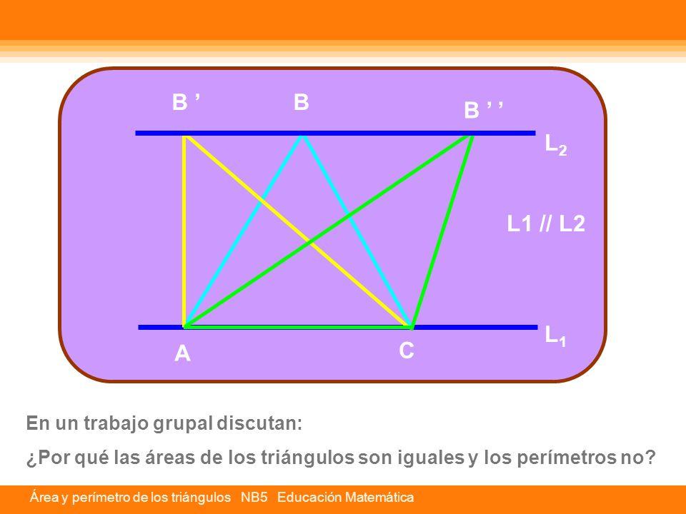 B ' B B ' ' L2 L1 // L2 L1 A C En un trabajo grupal discutan: