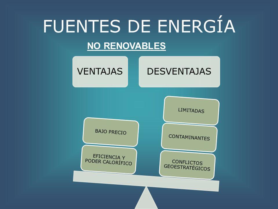 FUENTES DE ENERGÍA NO RENOVABLES VENTAJAS