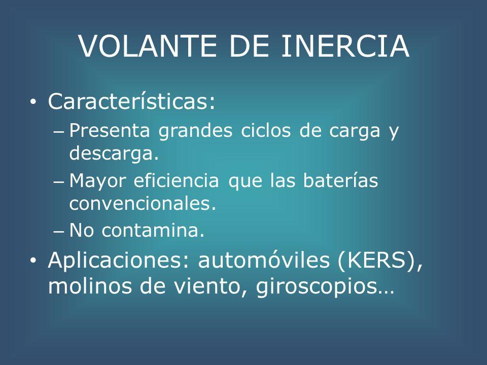VOLANTE DE INERCIA Características: