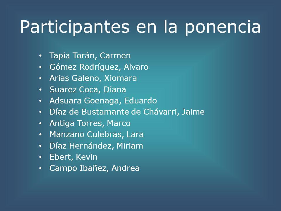 Participantes en la ponencia