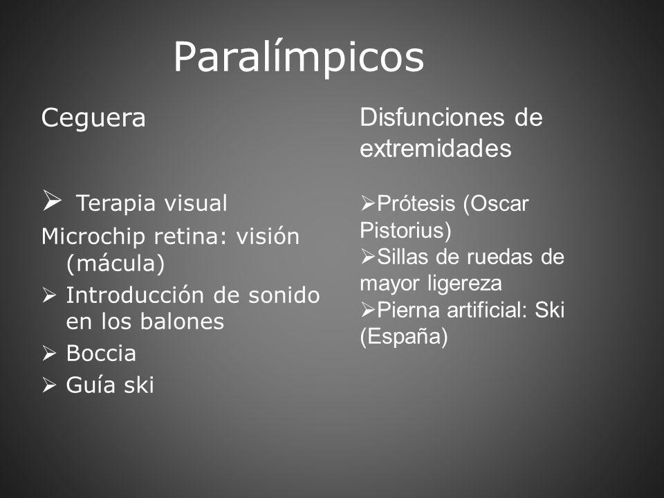 Paralímpicos Terapia visual Ceguera Disfunciones de extremidades