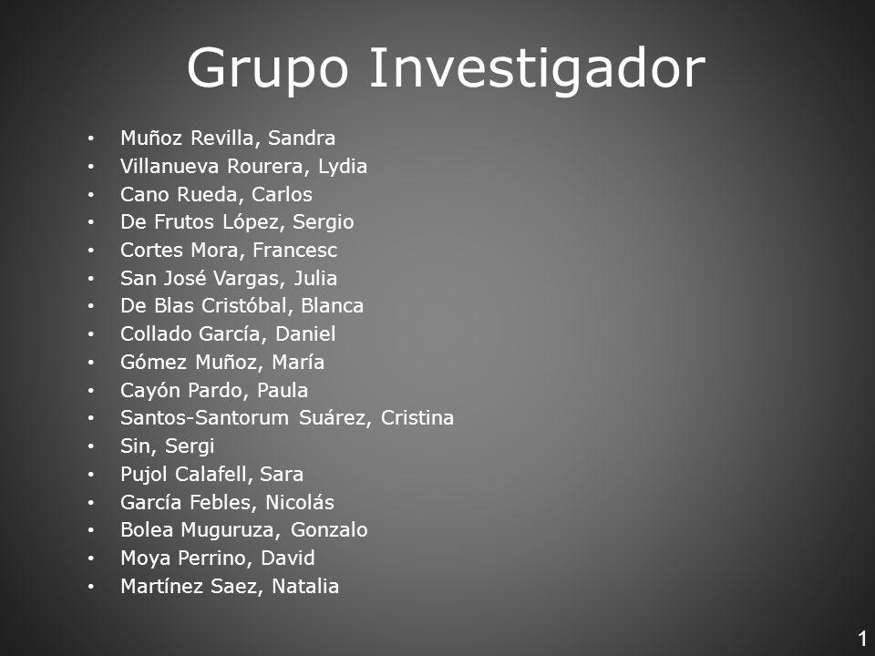 Grupo Investigador 1 Muñoz Revilla, Sandra Villanueva Rourera, Lydia