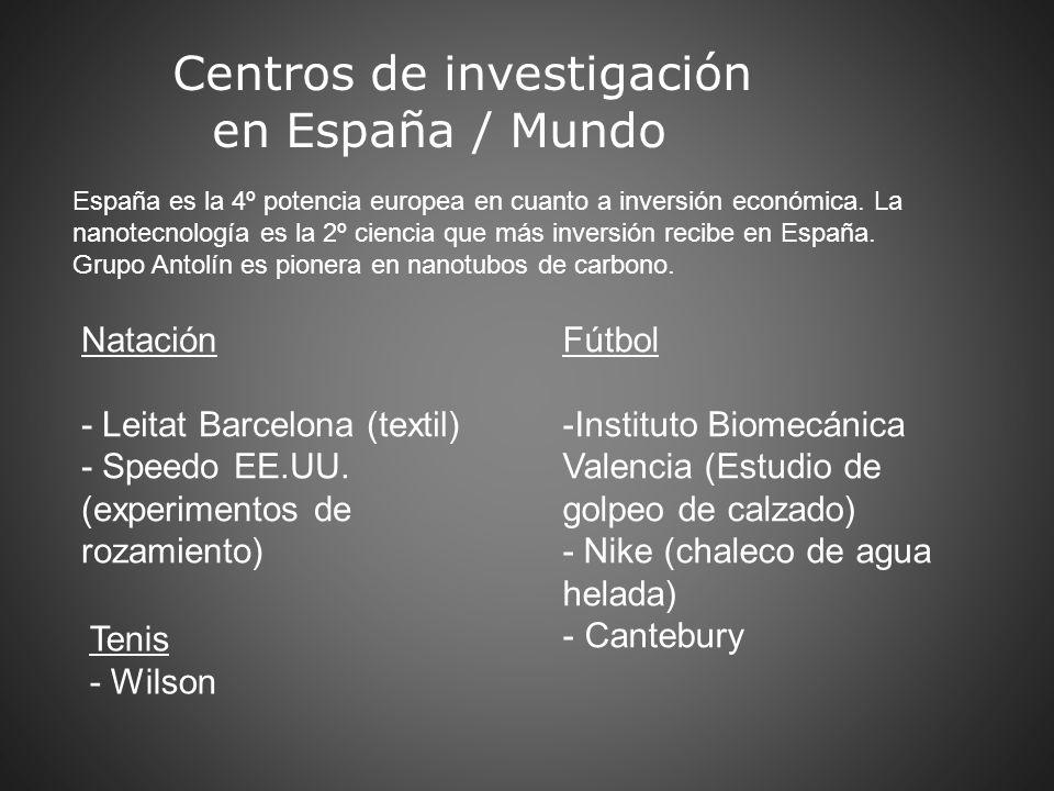 Centros de investigación en España / Mundo