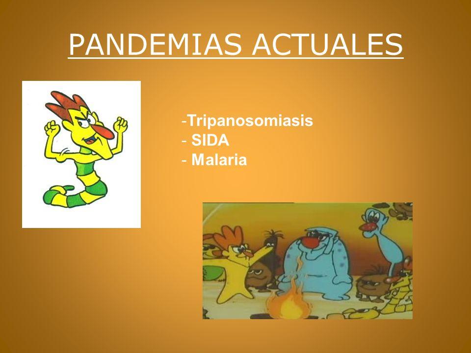 PANDEMIAS ACTUALES Tripanosomiasis SIDA Malaria