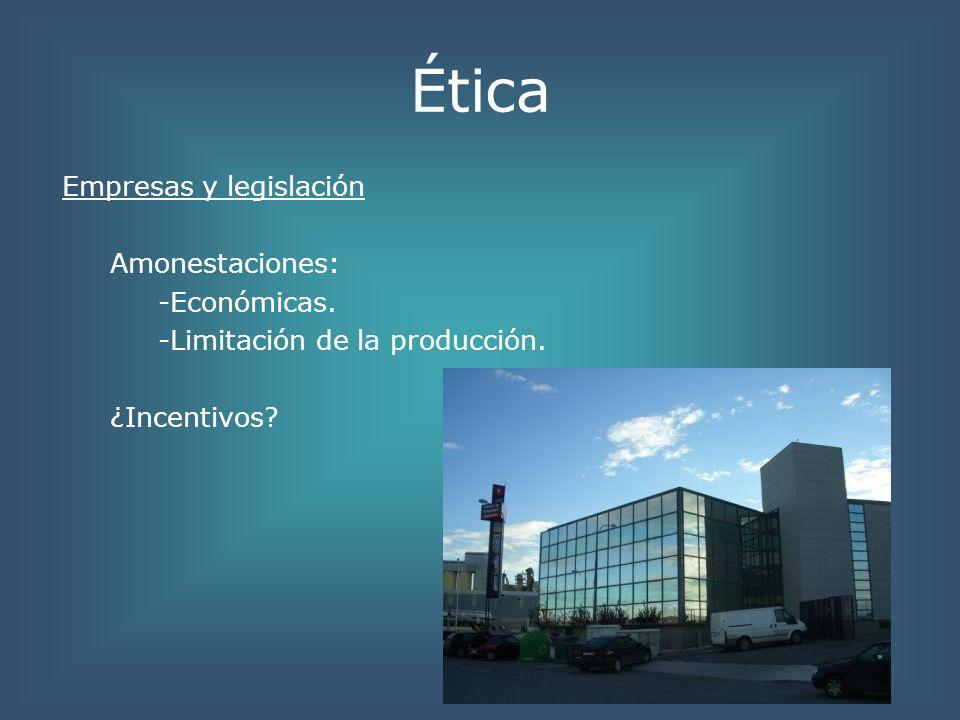 ÉticaEmpresas y legislación Amonestaciones: -Económicas.