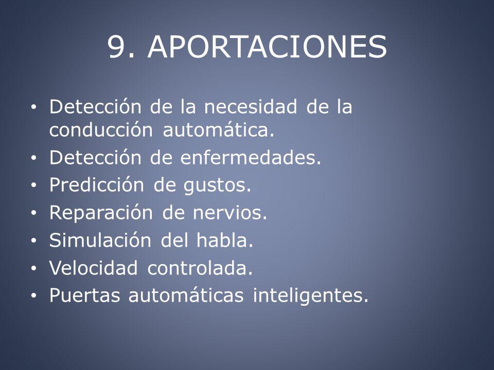 9. APORTACIONES Detección de la necesidad de la conducción automática.