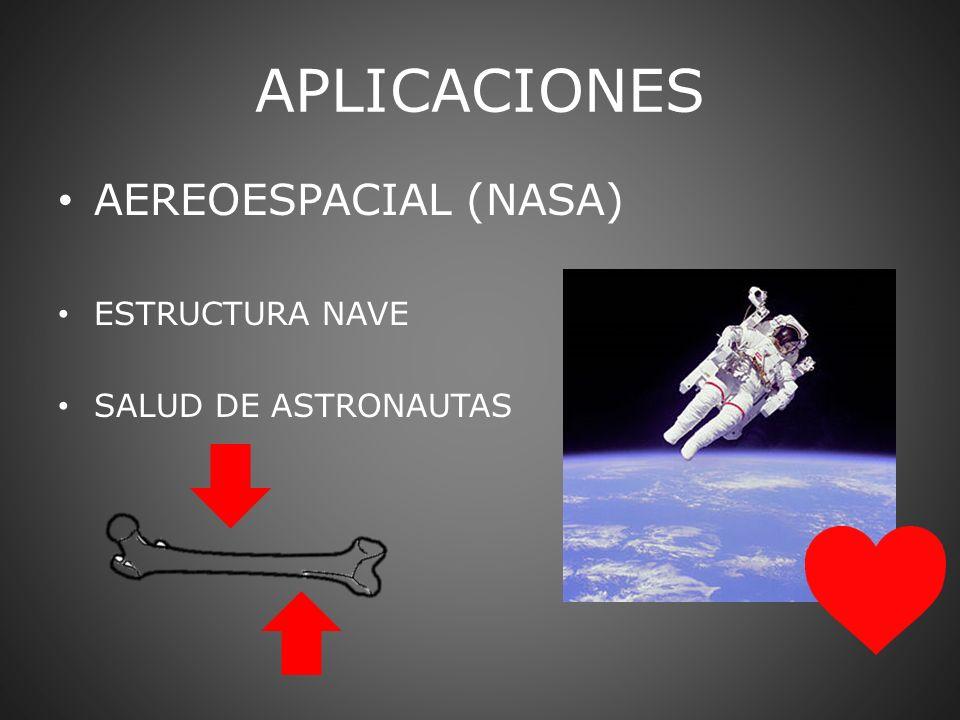 APLICACIONES AEREOESPACIAL (NASA) ESTRUCTURA NAVE SALUD DE ASTRONAUTAS