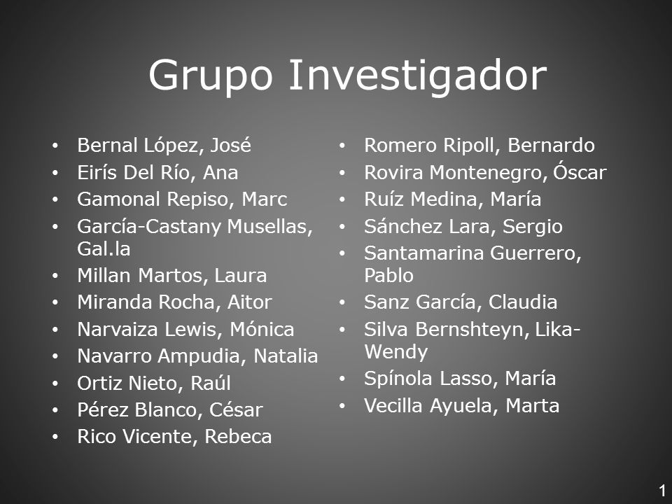 Grupo Investigador Bernal López, José Romero Ripoll, Bernardo