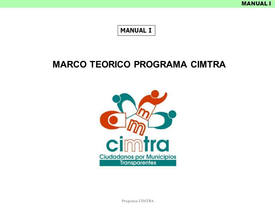MARCO TEORICO PROGRAMA CIMTRA