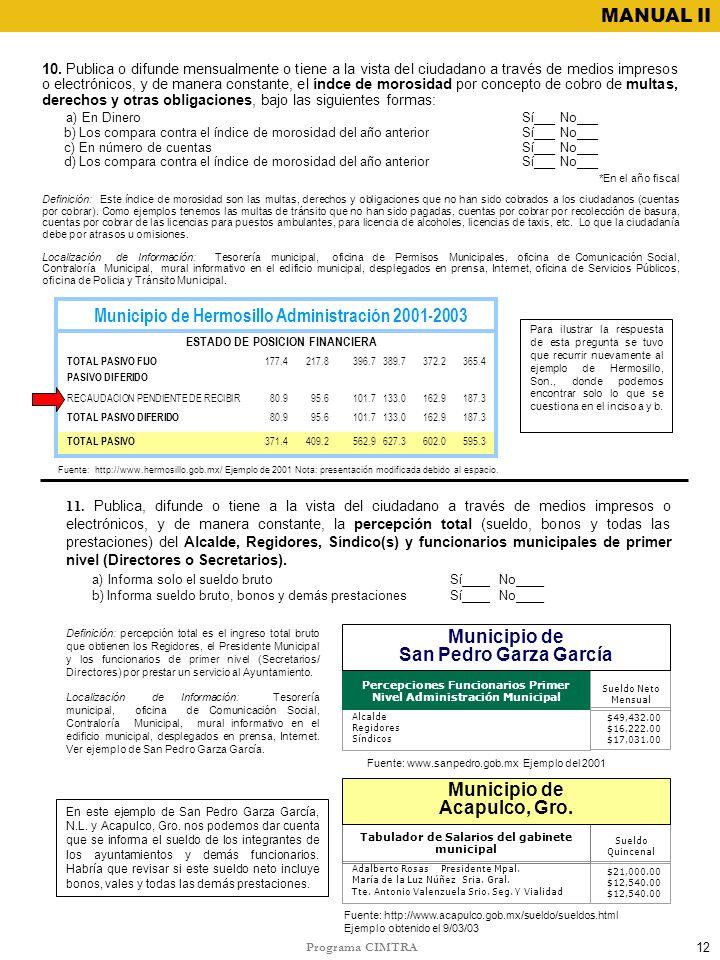 Municipio de Hermosillo Administración 2001-2003