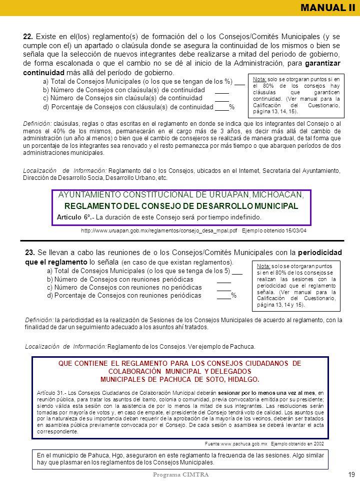 REGLAMENTO DEL CONSEJO DE DESARROLLO MUNICIPAL