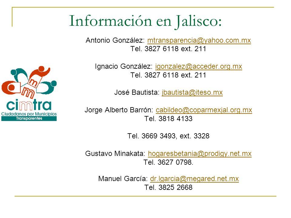 Información en Jalisco: