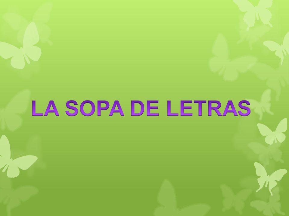 LA SOPA DE LETRAS. - ppt descargar