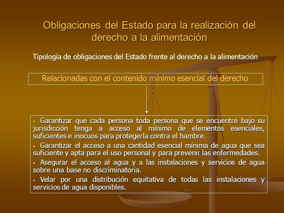 Relacionadas con el contenido mínimo esencial del derecho