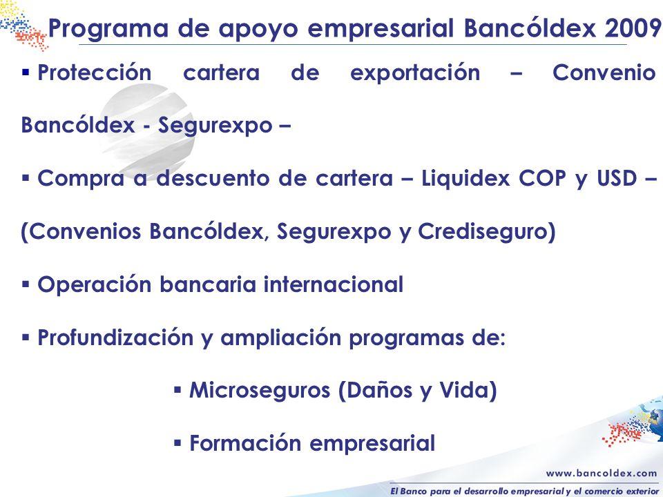 Programa de apoyo empresarial Bancóldex 2009