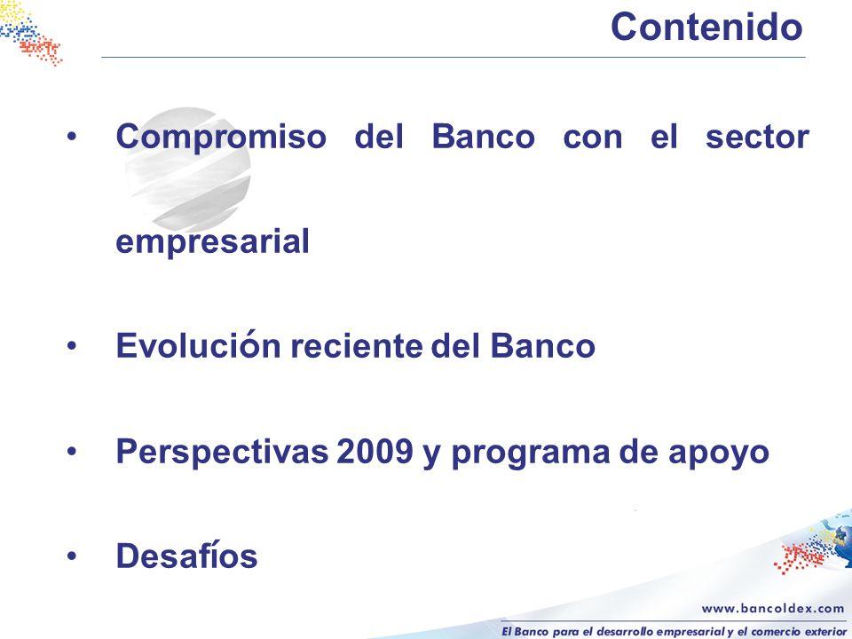 Contenido Compromiso del Banco con el sector empresarial
