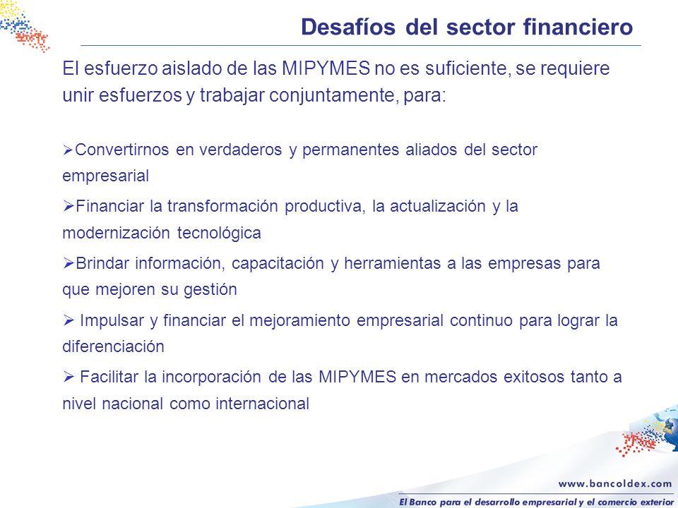 Desafíos del sector financiero