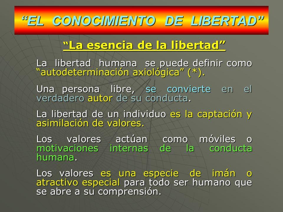 EL CONOCIMIENTO DE LIBERTAD
