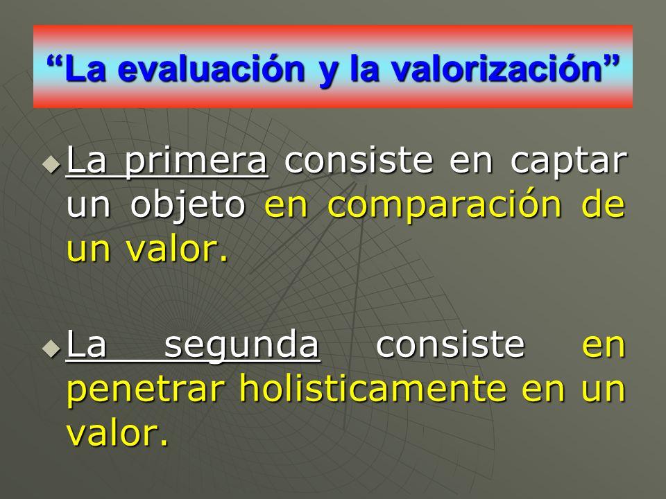 La evaluación y la valorización