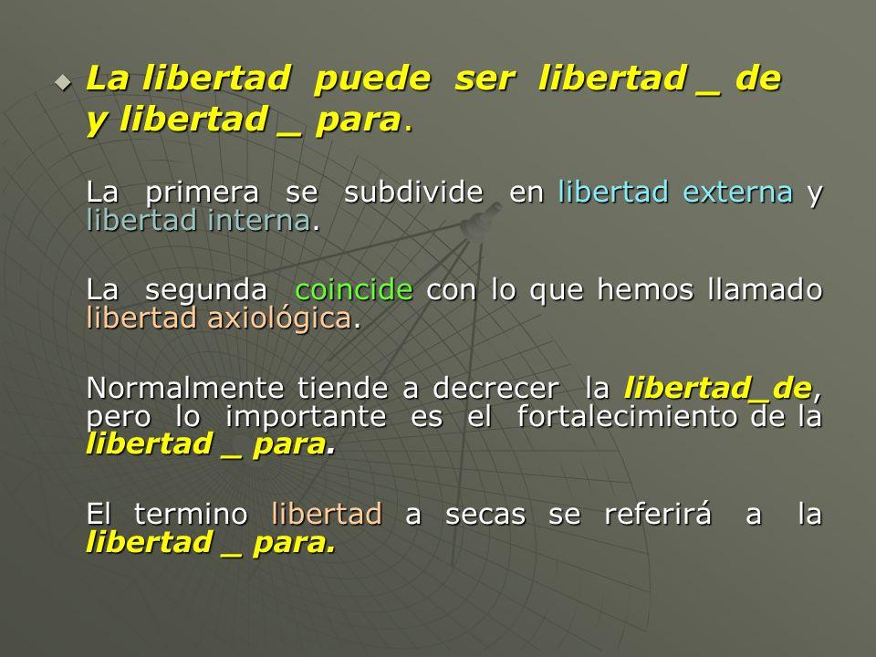 La libertad puede ser libertad _ de y libertad _ para.