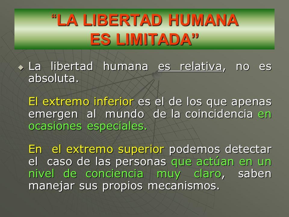LA LIBERTAD HUMANA ES LIMITADA