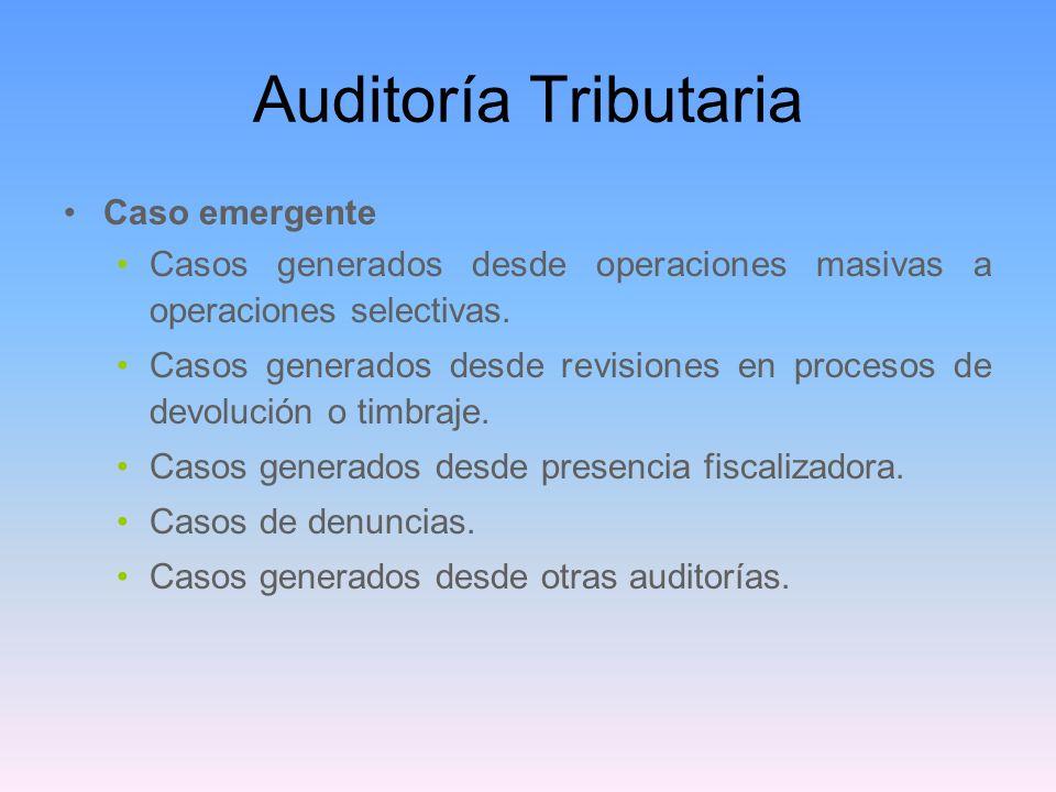 Auditoría Tributaria Caso emergente