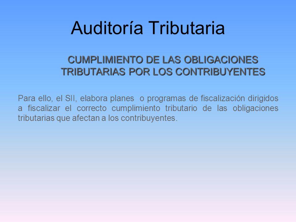 CUMPLIMIENTO DE LAS OBLIGACIONES TRIBUTARIAS POR LOS CONTRIBUYENTES