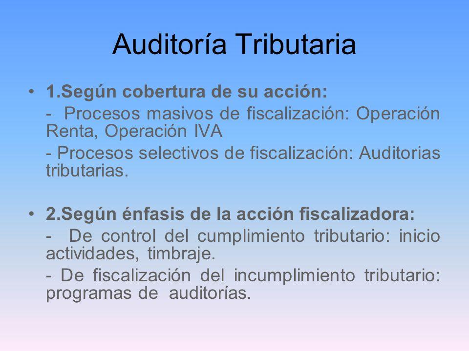 Auditoría Tributaria 1.Según cobertura de su acción: