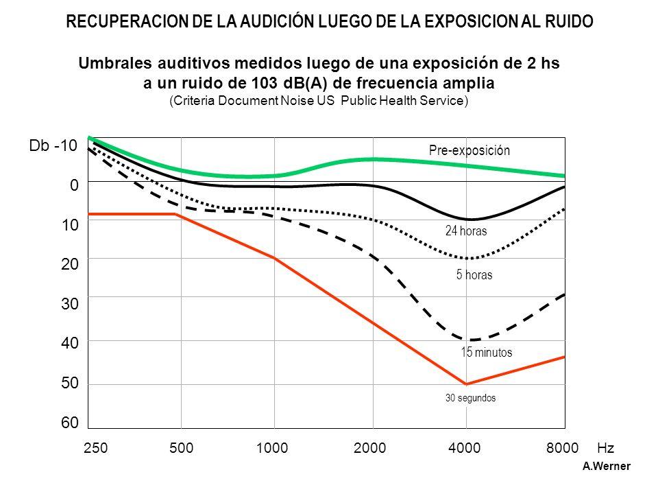 RECUPERACION DE LA AUDICIÓN LUEGO DE LA EXPOSICION AL RUIDO