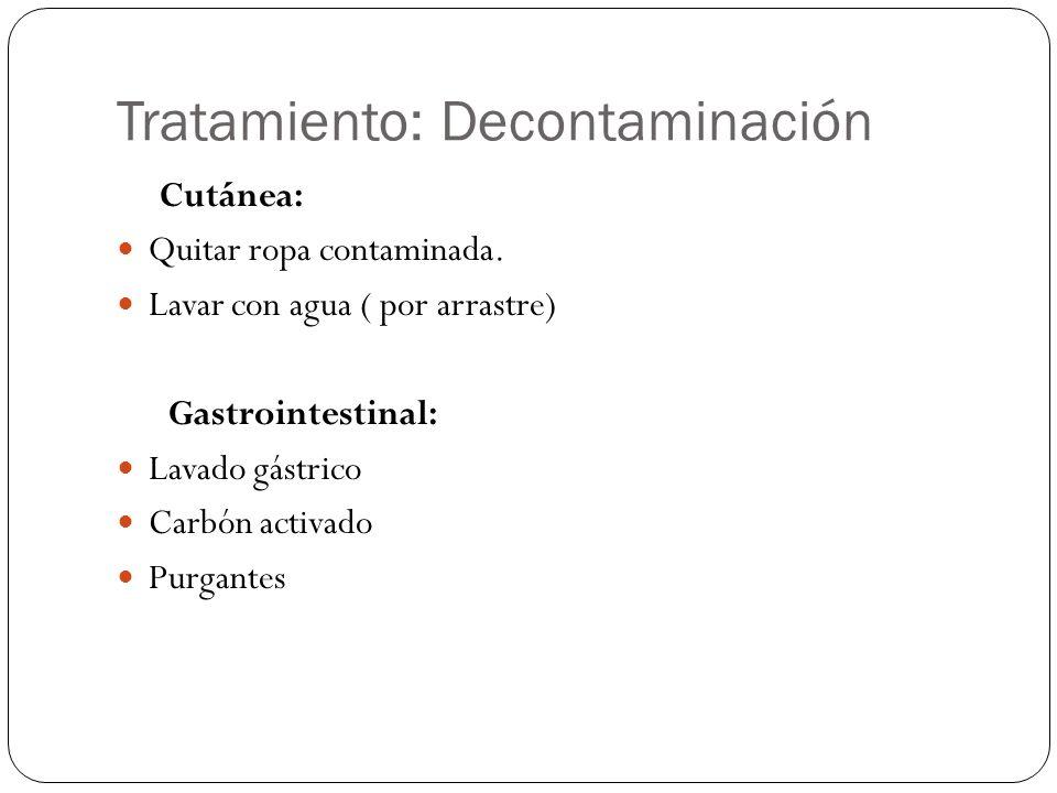 Tratamiento: Decontaminación