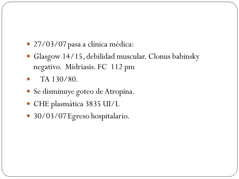 27/03/07 pasa a clínica médica: