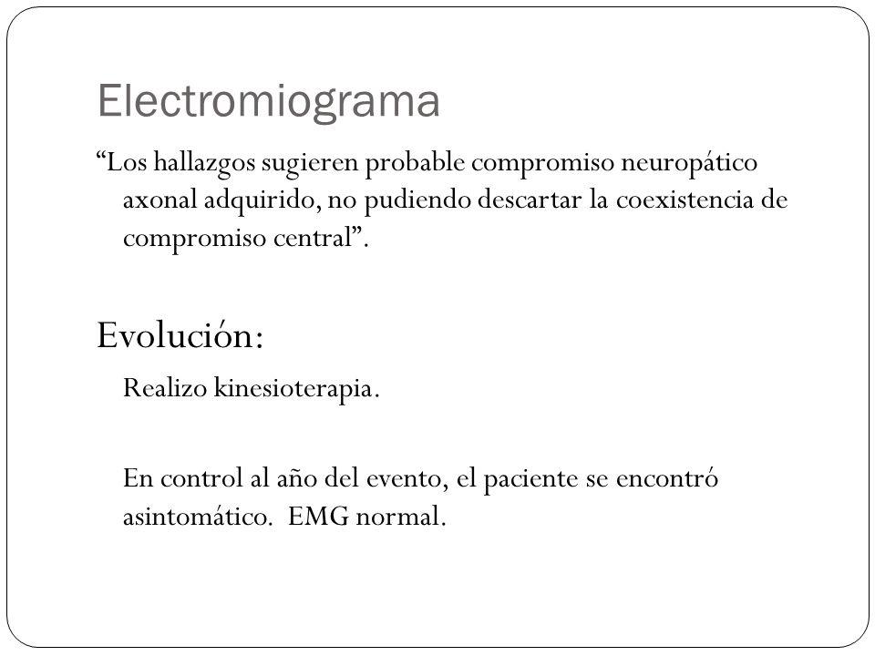 Electromiograma Evolución: