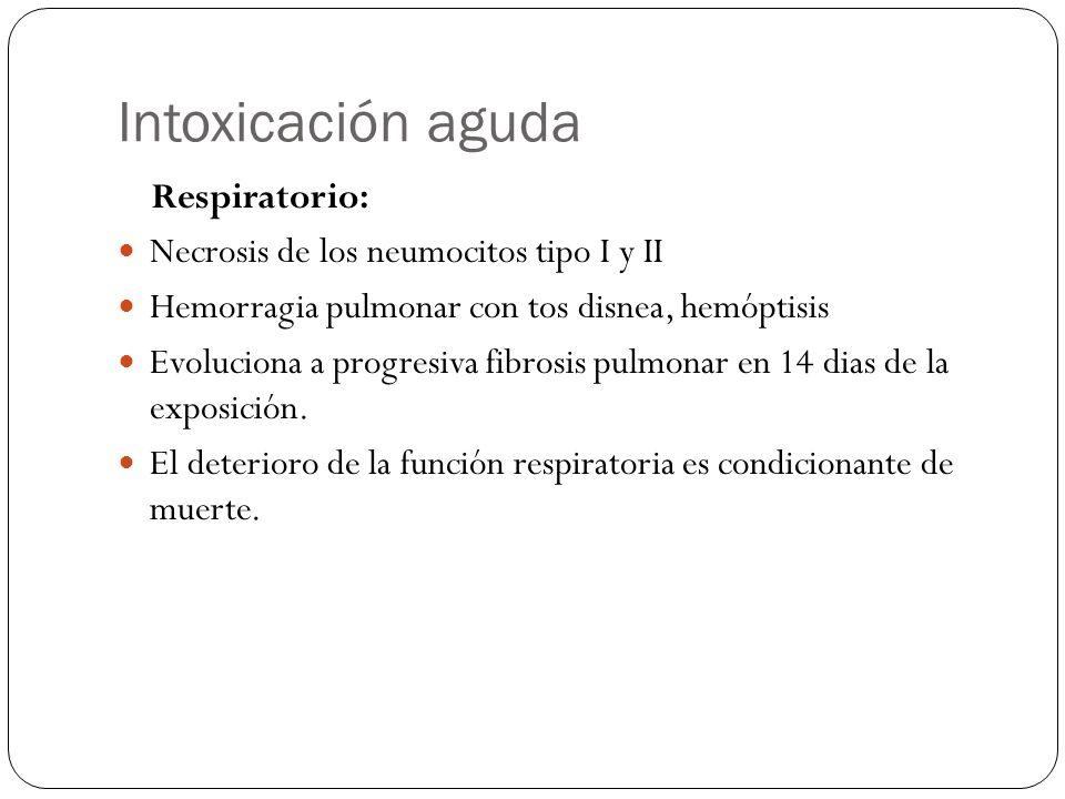 Intoxicación aguda Respiratorio: