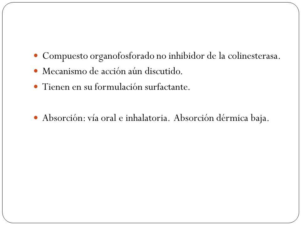 Compuesto organofosforado no inhibidor de la colinesterasa.
