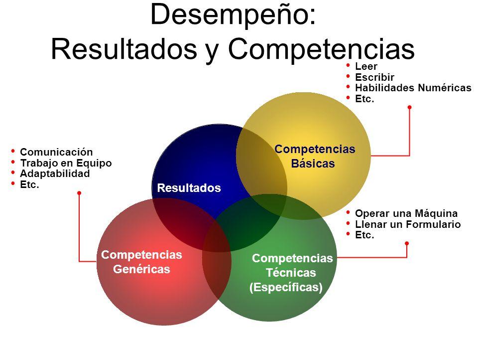 Desempeño: Resultados y Competencias