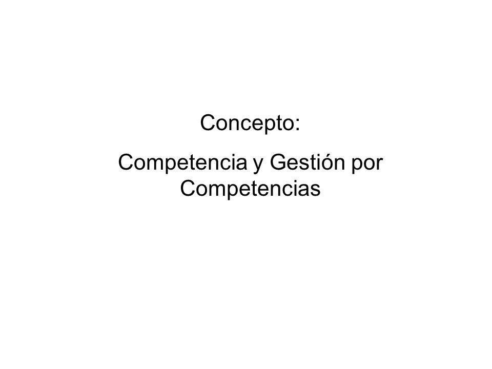 Competencia y Gestión por Competencias