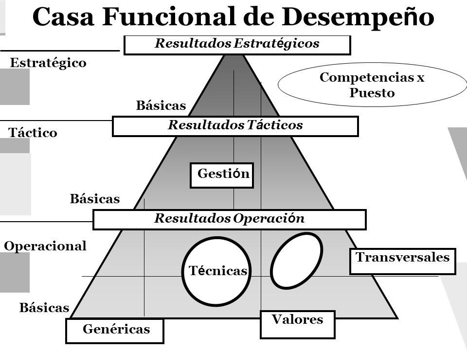 Casa Funcional de Desempeño Resultados Estratégicos