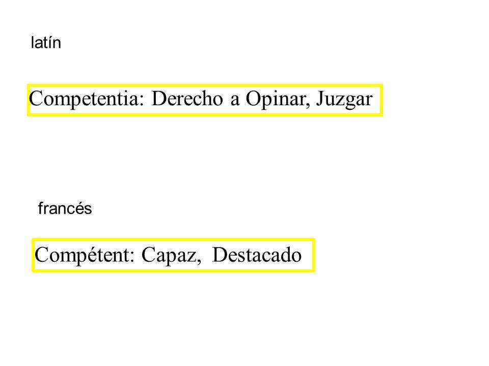 Competentia: Derecho a Opinar, Juzgar