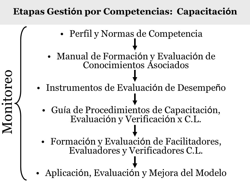 Etapas Gestión por Competencias: Capacitación
