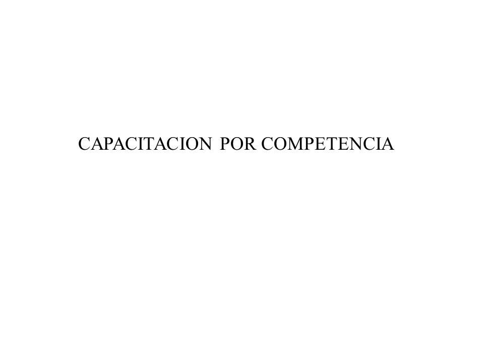 CAPACITACION POR COMPETENCIA