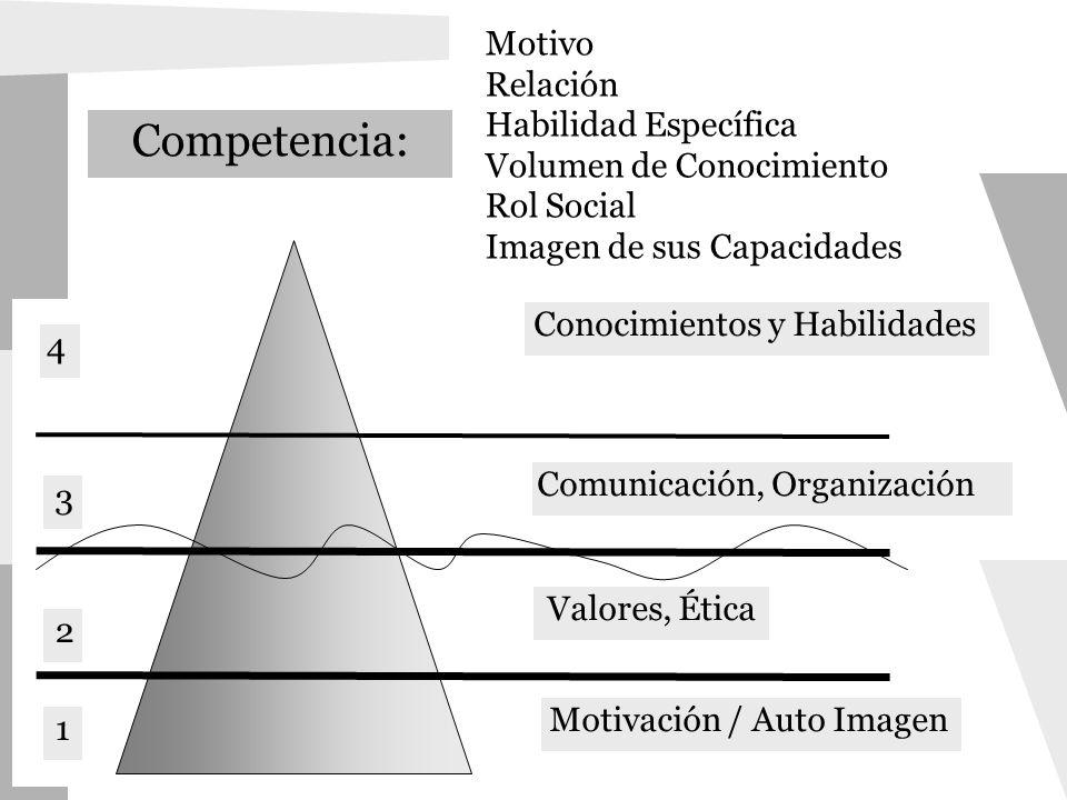 Competencia: Motivo Relación Habilidad Específica