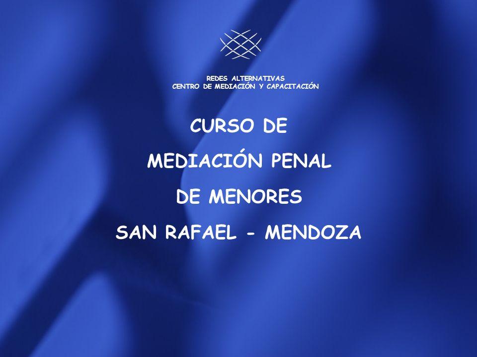CURSO DE MEDIACIÓN PENAL DE MENORES EN CONFLICTO CON LA LEY