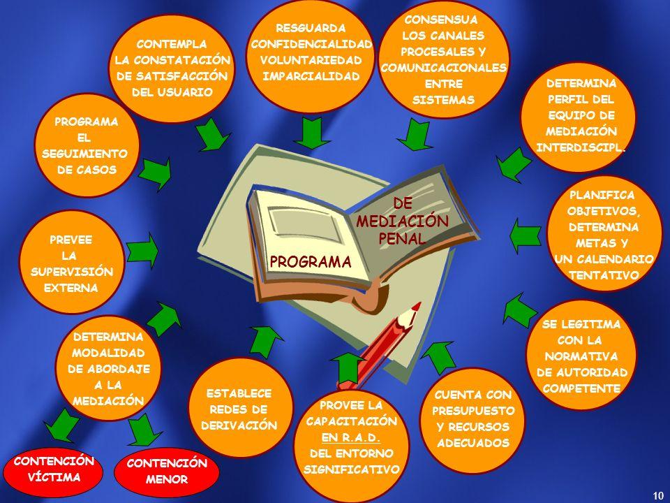 DE MEDIACIÓN PENAL PROGRAMA