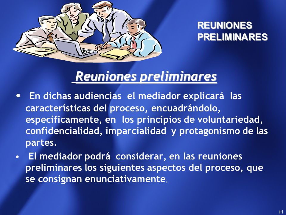 REUNIONES PRELIMINARES