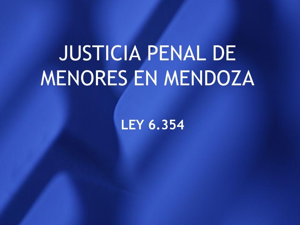 JUSTICIA PENAL DE MENORES EN MENDOZA
